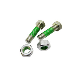 "Hex Bolts LOCTITE ""Precoat"" 202 (Bright Chromate) with 10 mm Coating Below The Screw Head"