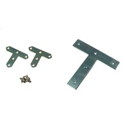 Bright Chromate T-Shaped Corner Metal Bracket (for Placing Shelving)