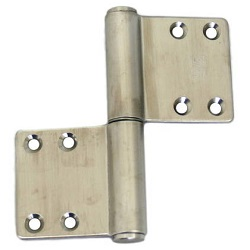 Stainless Steel KJ Flag-Model Hinge, Lateral