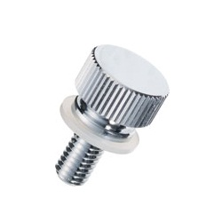 Brass Knurled Knob (Slotted and Flanged / Built-In Washer) / NB-CC-N
