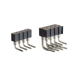 LCP Product, Pin Header / FRR-20 Socket (Round Pin), 2.00 mm Pitch, Right Angle (1 Row / 2 Rows)