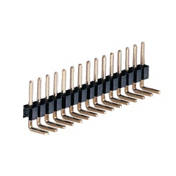 PCB Vertical Mounting Terminal (Fixed L-Type) / MLS Pin (Square Pin), 2.54 mm Pitch, Right Angle (1 Row)