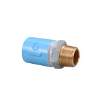 Pipe End Anticorrosive Fitting, Male Adapter Socket with Anticorrosive Screw