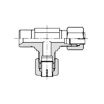 Flareless Fitting for Anti-Vibration Fitting NE Type Steel Pipe Type - Hose Connection Tee One Side Nipple