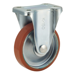 Medium-Load Caster, P-WK Type, Loglan (Urethane), Type with Wheels, Includes Fixture