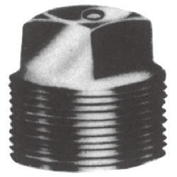 Screw-In Malleable Cast Iron Pipe Fitting, Plug