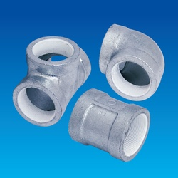 Screw Sealing Agent-Coated Screw Type Malleable Cast Iron Pipe Fitting, PS20K Continuous Feeding Piping Fitting, Socket