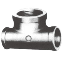 Screw-In PL Fittings - Edged Banded Reducing Tee, (Large Branch Diameter Type)