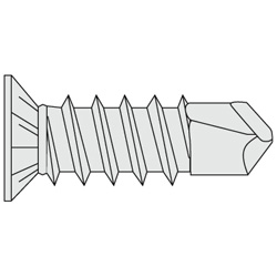 Gusset TH Screw/Drill Screw, Bright Chromate