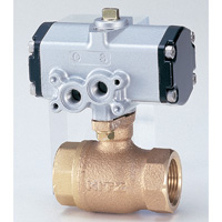 Ball valve with 10 K pneumatic actuator made of bronze