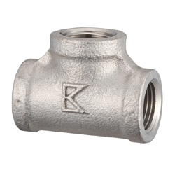 Stainless Steel Tees Screw Fitting PT-20A