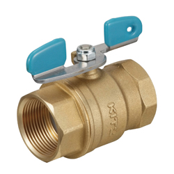 Brass-Made Threaded 600 Type Ball Valve for General Use (with Butterfly Shaped Handle)