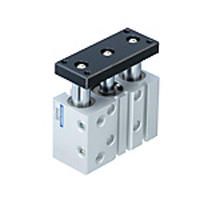 Fixture cylinder series with attached cylinder guide and attached drive equipment guide.
