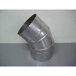 Stainless Steel Duct Fitting 45° Section Bend