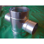 Stainless Steel Duct Fitting Cross Pipe