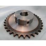 Standard Sprocket - 100B - C type - Semi F Series - Shaft Holes Machined (New JIS Key)