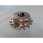 Stainless steel sprocket type 60B semi F Series, shaft bore machined (new JIS key)