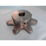 SUS Standard Stainless Steel 2062 Double Pitch Sprocket For R Roller: B Model, Semi F Series with Pre-bored Shaft Holes (New JIS Key)