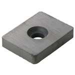 Anisotropic Ferrite Magnet, Square-Shaped (With Hole)
