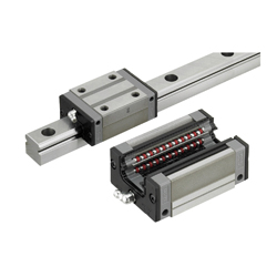Linear Guides for Super Heavy Load - Stainless Steel - With Plastic Retainers, Interchangeable, Light Preload