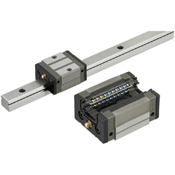 Linear Guides for Medium Load - With Plastic Retainers, Interchangeable, Light Preload