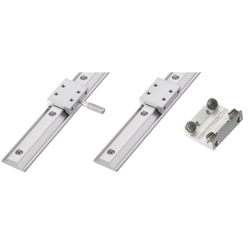 Simplified Slide Rails - Load Rating: 49N~99N/pc - Aluminum, With Ball Bearing / Position Locking Type