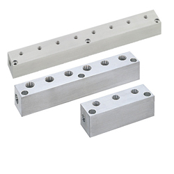 Manifold Blocks - Pneumatic - Lateral Through Hole, Upper Hole