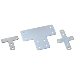 Sheet Metal Bracket For 8 Series (Slot Width 10mm) Aluminum Extrusions - T-Shaped/Cross-Shaped