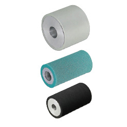 Urethane, Rubber Rollers - Press-Fit Straight Type