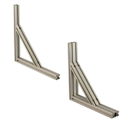 8 Series Aluminum Extrusions 40, 80mm Square - Brackets for Reinforcement