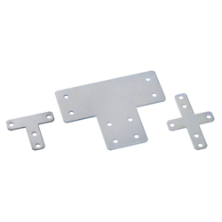 Sheet Metal Bracket For 8-45 Series (Slot Width 10mm) Aluminum Extrusions - T-Shaped/Cross-Shaped