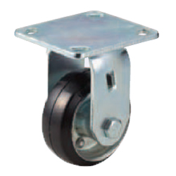 Casters - Heavy Load - Wheel Material: Rubber - Fixed Type