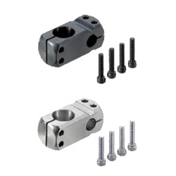 Compact Strut Clamps - Unequal Dia., Perpendicular Configuration