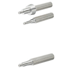 Slot Pins for Inspection Components - Threaded, Tapered (Round / Rotating, Diamond-Shaped)