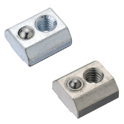 Pre-Assembly Insertion Spring Nuts for Aluminum Extrusions - Bulk Packages - For 6 Series (Slot Width 8mm) /Pack (100/Pkg.)