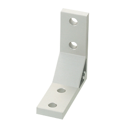 Extruded Brackets - For 1 Slot - For 8 Series (Slot Width 10mm) Aluminum Extrusions - Thick Brackets