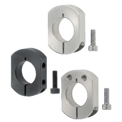 Shaft Collar (2-Flats) - Standard Clamp / Cut Surface Mount Hole Clamp / Side Mount Hole Clamp