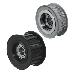 Flanged Idlers with Teeth - 2GT, 3GT, 5GT, 8YU - Center Bearing