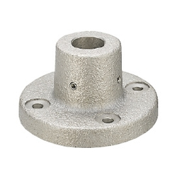 Device Stands - Round Flanged, Through Holes, with Dowel Holes (Bracket only)