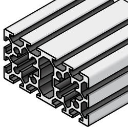 Aluminum Frame 6 Series/slot width 8/100x50mm, Parallel Surfacing