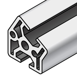 Aluminum Extrusion 8-45 Series/slot width 10/Other Shapes, 30, 45, 60-Degree