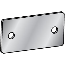 Sheet Metal Mounting Plates / Brackets - Center Symmetrical Type (2 - Hole specification)