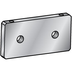 Flat Bar Mounting Plate, Bracket - Center Symmetrical Type (2 - Hole specification)