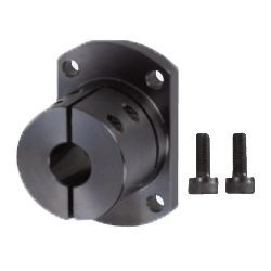 Shaft Supports - Flanged Mount with Slit, Long Sleeves