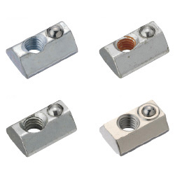 For 6 Series (Slot Width 8mm) - Post-Assembly Insertion - Spring Nuts