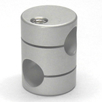 Round Pipe Joint, Same-Diameter Hole, with 90° Cross Hole (2 Point Top-and-Bottom Fastening)