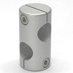 Stainless Steel Round Hole Pipe Joint, Cross 90° Hole
