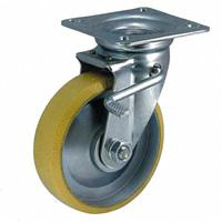 Static Electricity Proof Caster, SMT Series, Includes Adjustable Stopper (OCTRON Urethane Wheels)