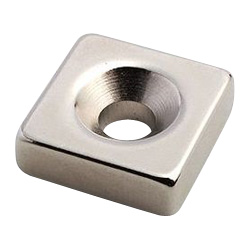 Countersunk Bolt Mounted Type Square Neodymium Magnet