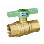 Ball Valve, FF (Full-bore), Green T Handle